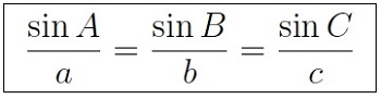 law of sines
