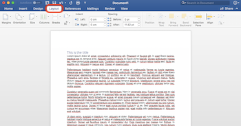 formatting text in microsoft word layout style study com