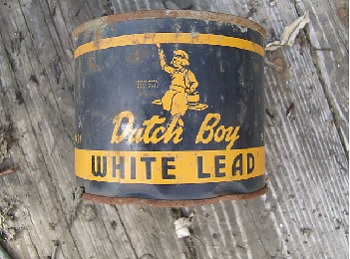 Lead paint can