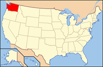 Location of Washington state