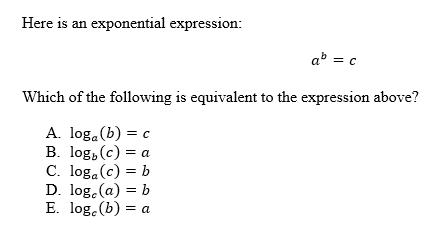 Quiz Worksheet Logarithms Study Com
