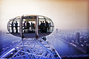 The London Eye, with a 360-degree view of the city