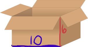 long, packing box with dimensions