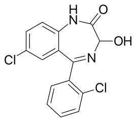 Chemical Structure of Lorazepam