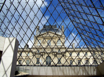 From Inside the Louvre Pyramid