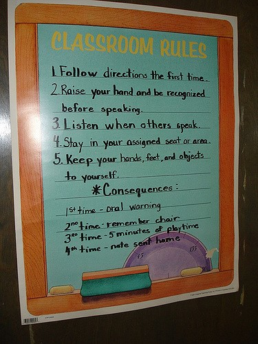 Classroom Punishment Ideas ~ Maintain discipline in the classroom with these proven