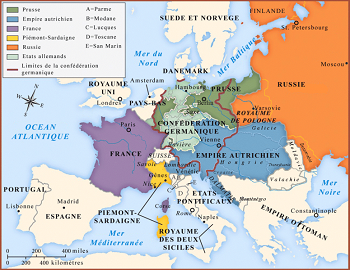 Map of Europe in 1814