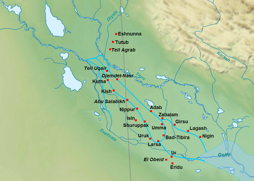 Umma Map Lagash in Mesopotamia:...