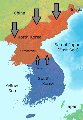 South Korea and its surroundings