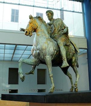 equestrian statue of marcus aurelius material