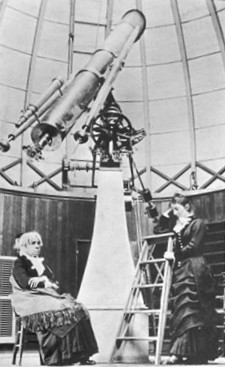 Maria Mitchell in the Vassar College Observatory