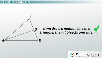 median line bisecting triangle