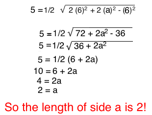 Median of a triangle definition formula video lesson using the median b formula we find that the length of the base of this triangle is 2 ccuart Gallery
