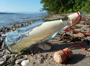 lord of the flies message in a bottle
