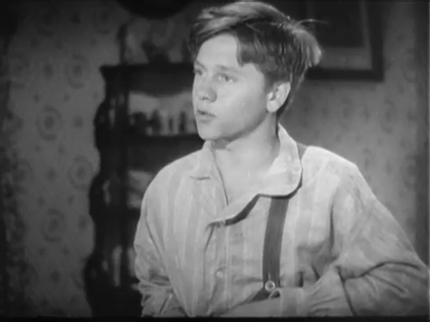 Mickey Rooney as Huckleberry Finn in a 1939 film adaptation