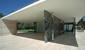 Barcelona Pavilion by Mies