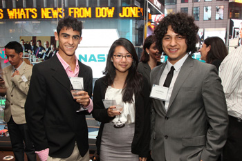 minds matter students at the nasdaq closing bell ceremony