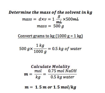 Molality: Definition & Formula - Video & Lesson Transcript