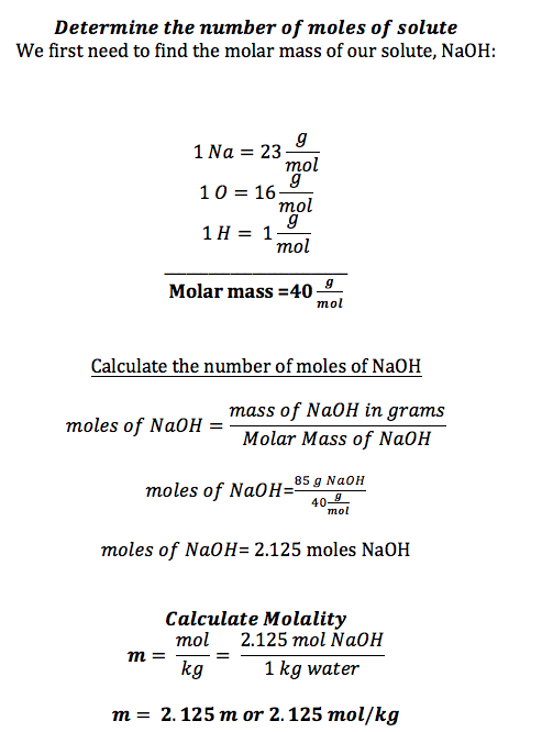Molality Definition Formula Video Lesson Transcript Study