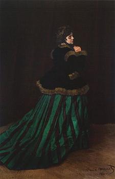 Full-length portrait of woman indoors.