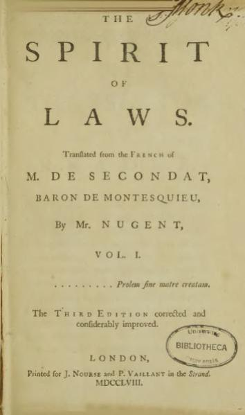 http://en.wikisource.org/w/index.php?title=File:Montesquieu_-_The_spirit_of_laws.djvu&page=5