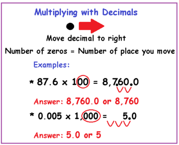Multiplying Dividing Decimals With Mental Math Lesson For Kids