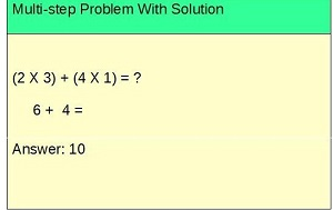 Image of a multi-step problem with solution.