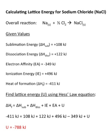Lattice Energy: Definition, Trends & Equation - Video & Lesson ...