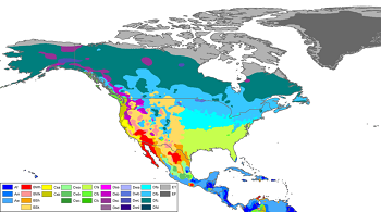 US Climate Map Showing Coastal (left) vs Inland (right)