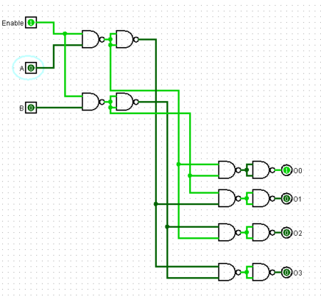 1. Draw the logic diagram of a two-to-four-line decoder ...