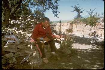 Native American at Pipestone National Monument