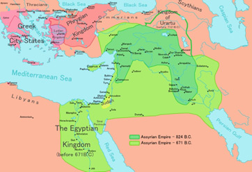 The neo-Assyrian empire at its height.