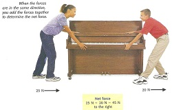 net force piano