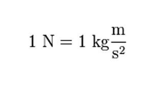 Units of a Newton