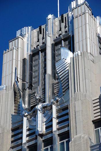 Close Up Of Niagara Mohawk Building In Syracuse New York