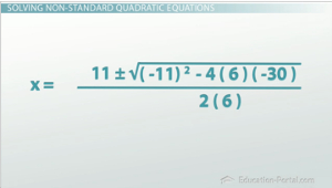 Non Standard Quadratic Example 2