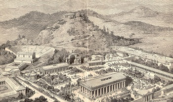 Illustration of ancient Olympia