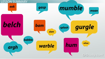 Onomatopoeia in Literature: Definition & Examples - Video & Lesson