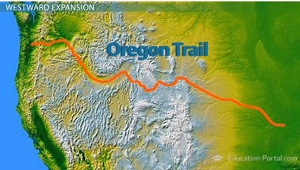 The oregon trail westward migration to the pacific ocean video oregon trail map freerunsca Choice Image