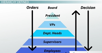 Organizational chart and hierarchy definition examples video chart organization ccuart Image collections