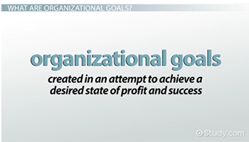 What Are Organizational Goals? - Definition, Types