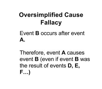oversimplified cause fallacy