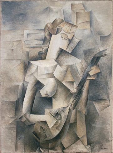 Pablo Picasso, Girl with a Mandolin (Fanny Tellier) (1910)