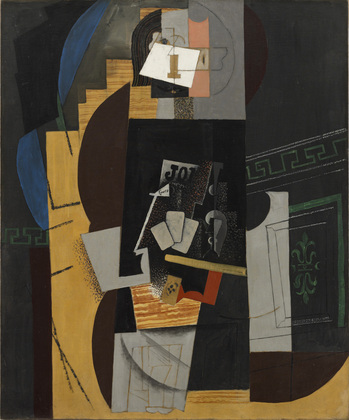 Pablo Picasso, Card Player (1913-14)