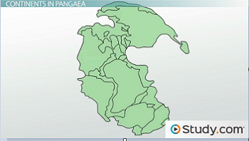 Pangea Map With Plants