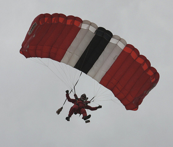 falling with a parachute