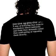 Define passive aggressive examples