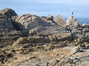 Rocks on the Brittany coast at Penmarch