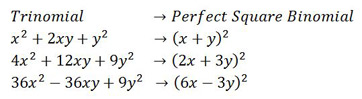 square of a binomial difference