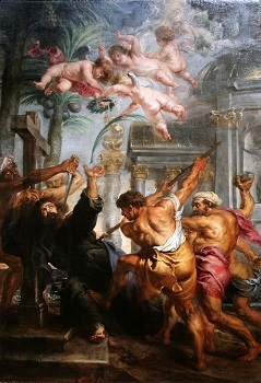 Painting of the Martyrdom of Thomas by Peter Paul Rubens
